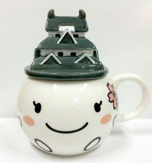 画像1: しろまるひめ蓋付きマグカップ